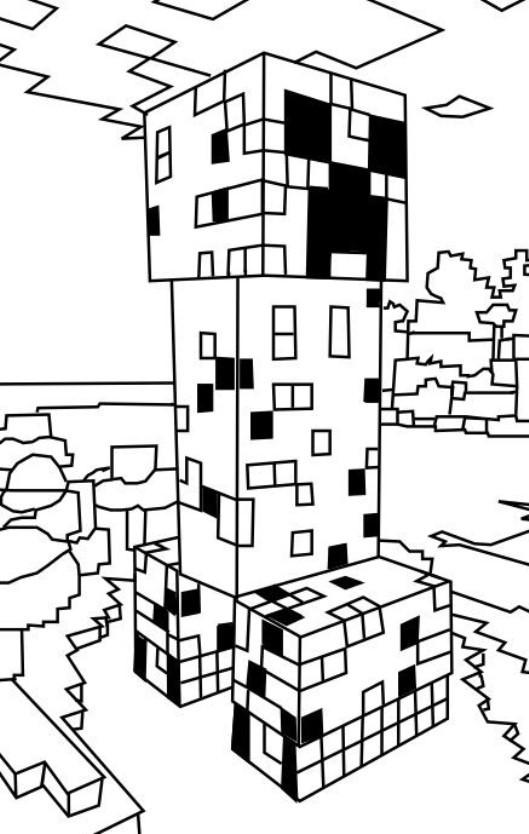 Minecraft Ausmalbilder Enderman Inspirierend Kids N Fun Bild