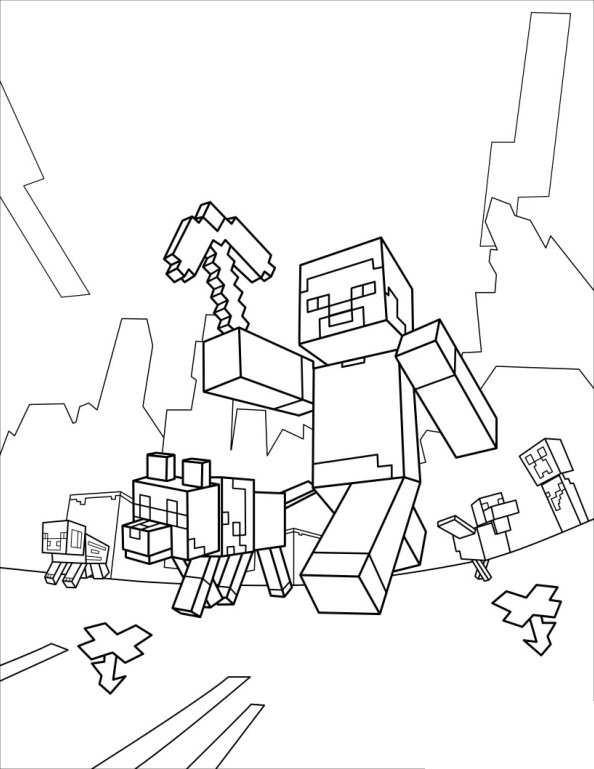 Minecraft Ausmalbilder Schwert Das Beste Von Kids N Fun Stock