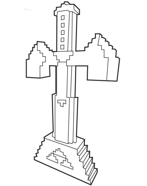 Minecraft Ausmalbilder Schwert Einzigartig Kids N Fun Stock