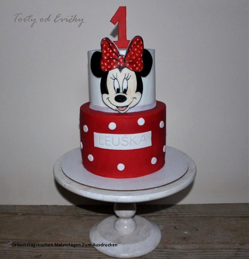 Minnie Maus Malvorlagen Einzigartig Geburtstagskuchen Malvorlagen Zum Ausdrucken Minni Maus Kuchen Bild