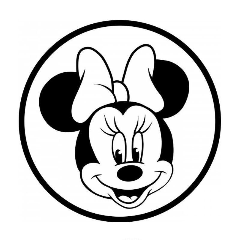 Minnie Mouse Ausmalbild Frisch Wandtattoo Auto Wandsticker Ic Maus Kopf Text Aufkleber Fotos