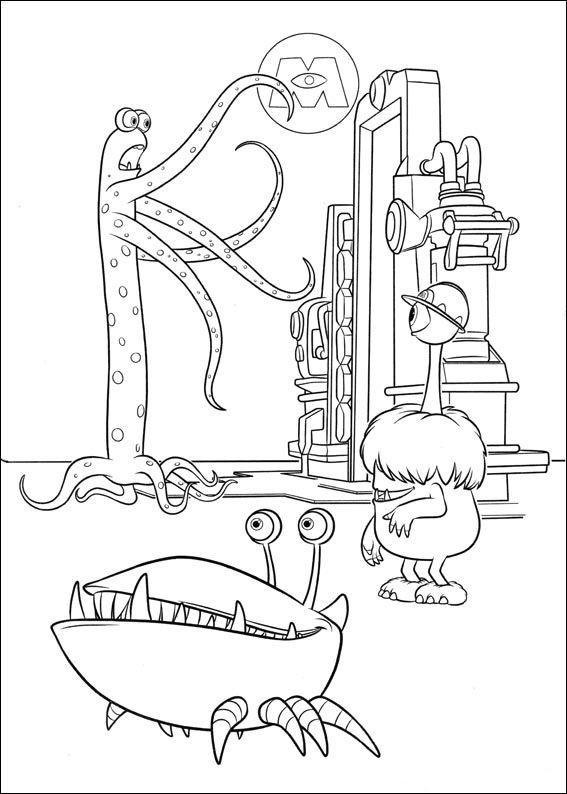 Monster Bilder Zum Ausmalen Inspirierend Ausmalbilder Line Die Monster Ag Uni Ausmalbilder Malvorlagen Bilder