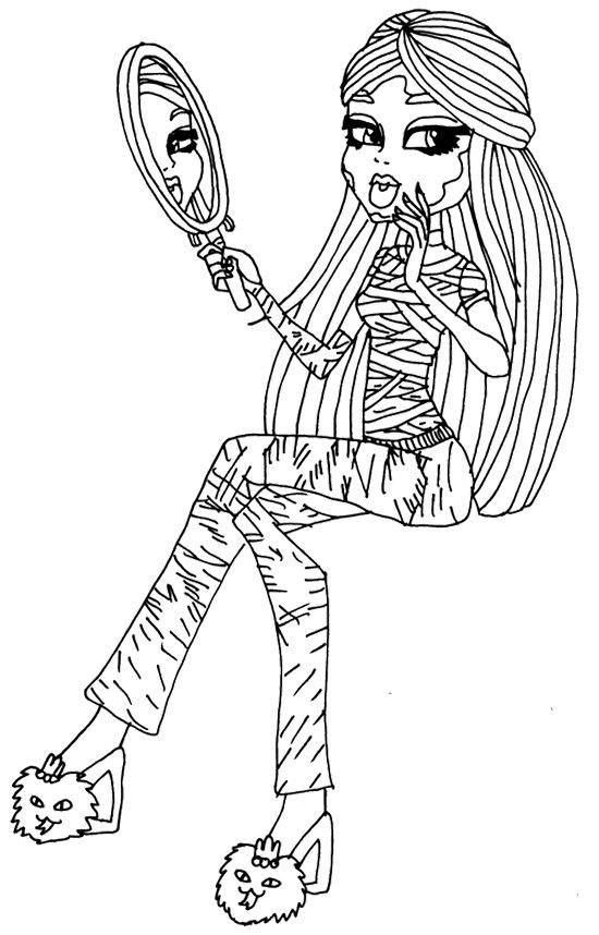 Monster High Ausmalbild Genial Cleo De Nile Look In the Mirror Coloring Page Мои Рюбимые Das Bild