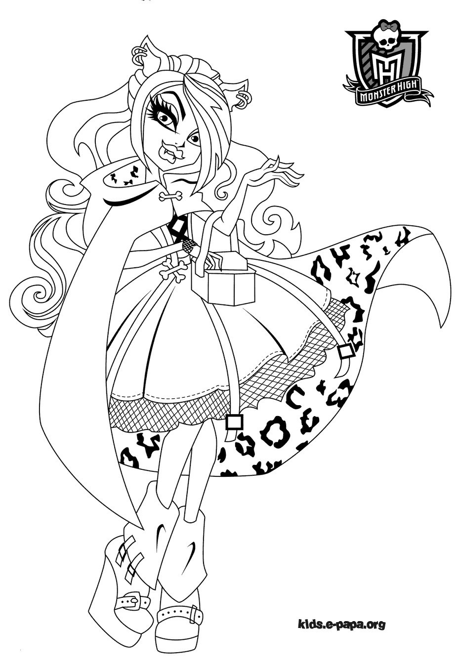 Monster High Ausmalbilder Das Beste Von Clawdeen Wolf Monster High Coloring Page Elegant Monster High Sammlung