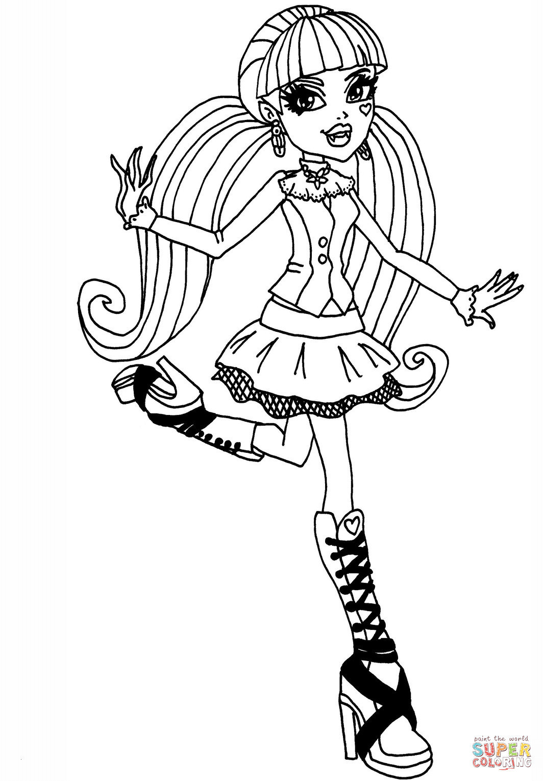 Monster High Ausmalbilder Frisch 38 Monster High Ausmalbilder Draculaura Scoredatscore Inspirierend Fotos
