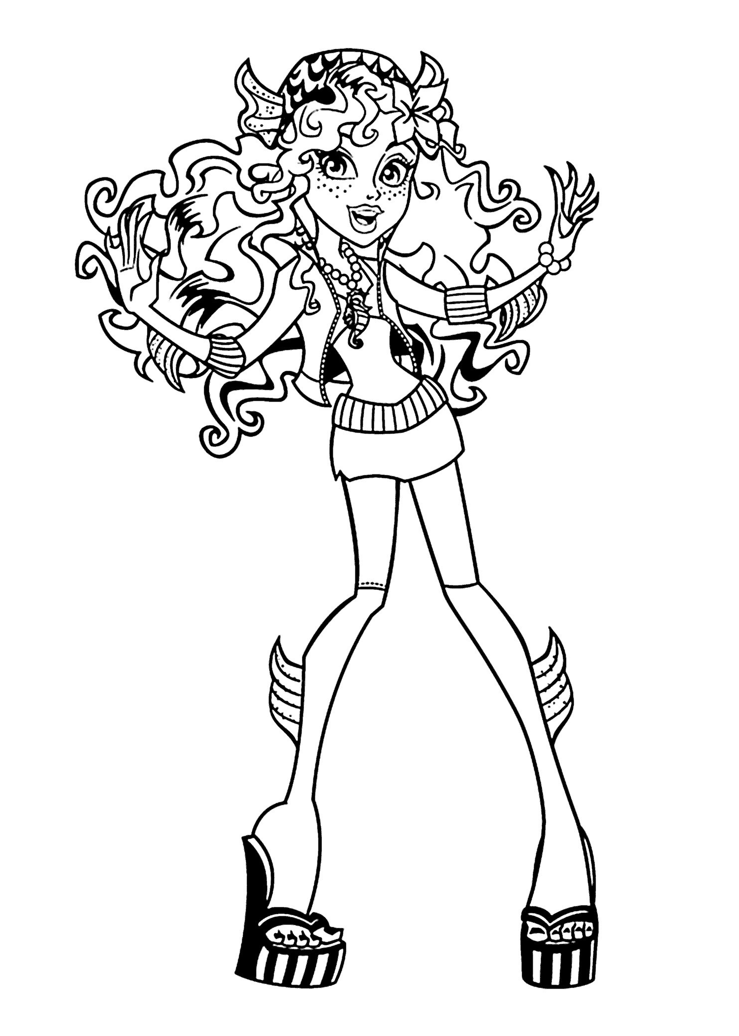 Monster High Ausmalbilder Frisch Monster High Ausmalbilder Lagoona Blue Frisch Coloring Pages Monster Stock