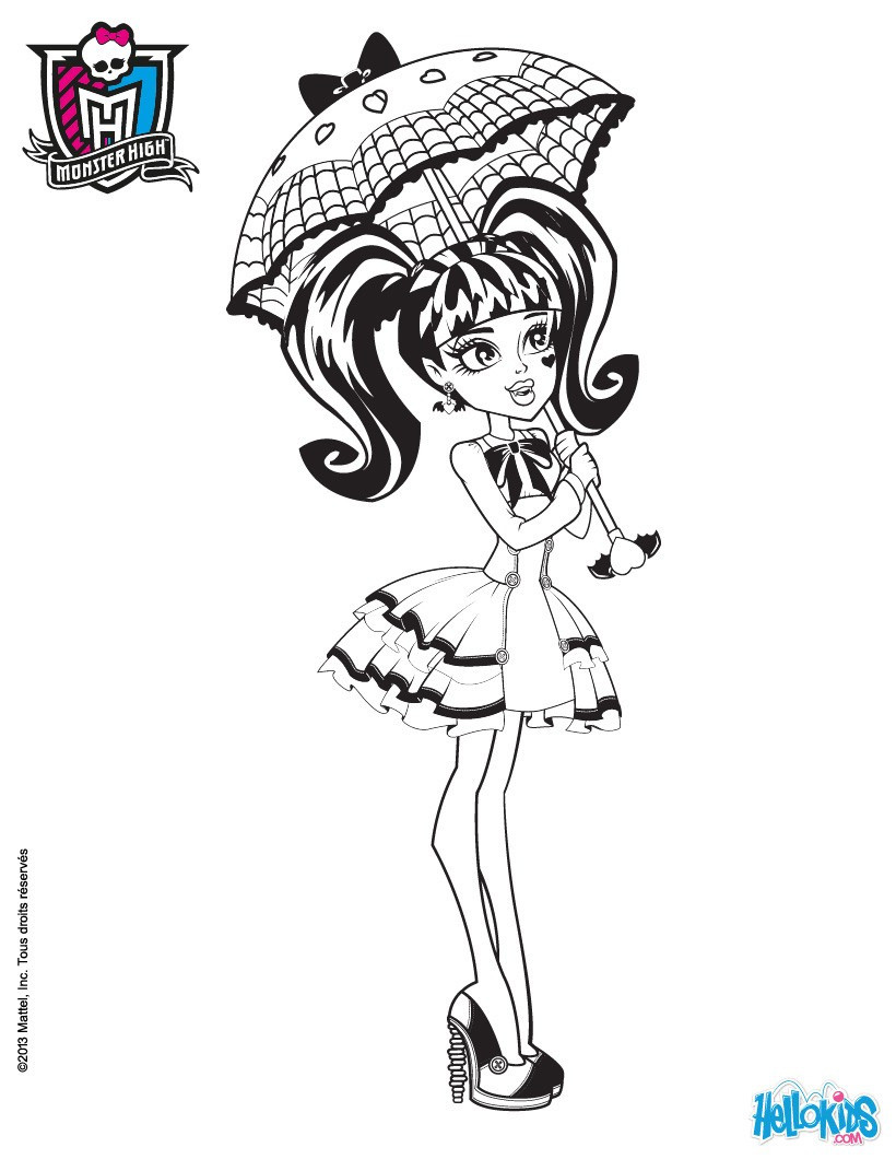 Monster High Ausmalbilder Genial Monster High Coloring Pages 72 Line toy Dolls Printables for Girls Fotografieren