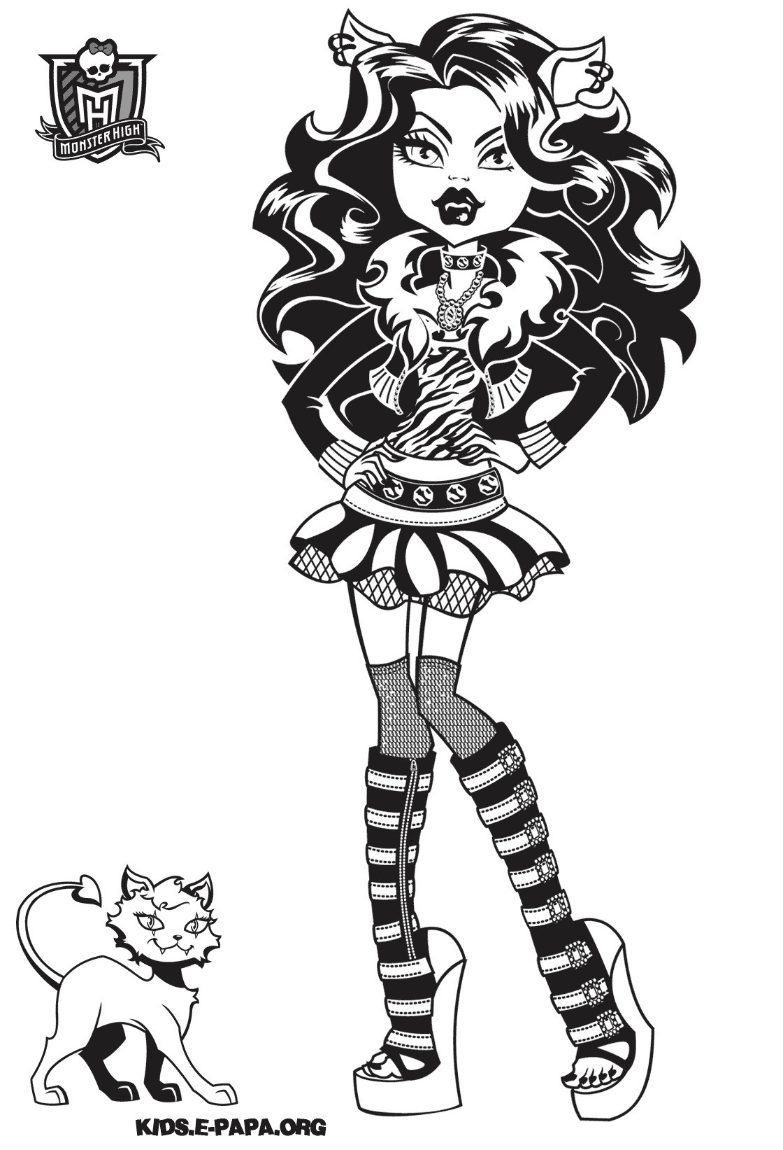 Monster High Ausmalbilder Inspirierend Clawdeen Wolf Monster High Coloring Page Elegant Monster High Fotos