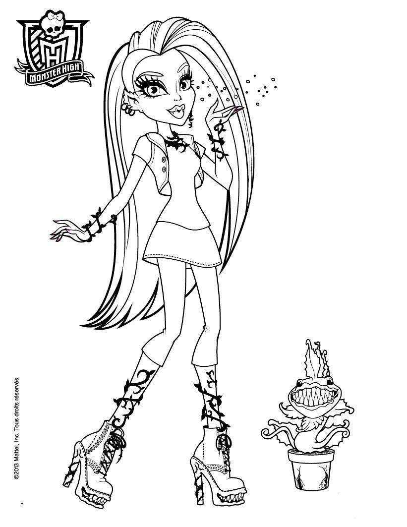 Monster High Bilder Zum Drucken Genial 40 Schöpfung Monster High Ausmalbilder Zum Ausdrucken Treehouse Fotos