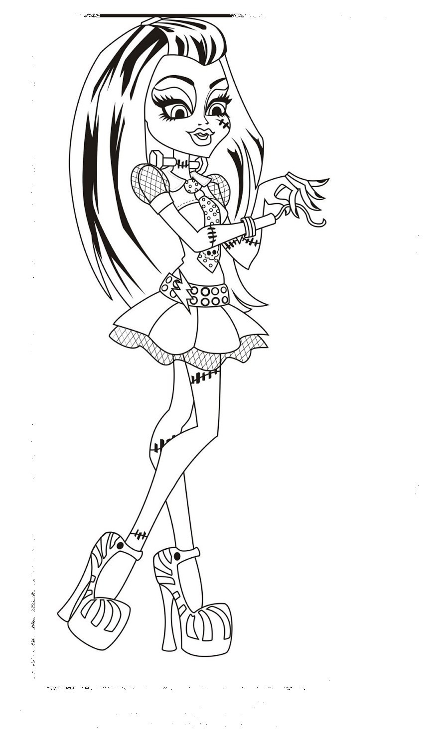 Monster High Malvorlagen Genial Ausmalbilder Monster High Jinafire Genial 35 Monster High Sammlung