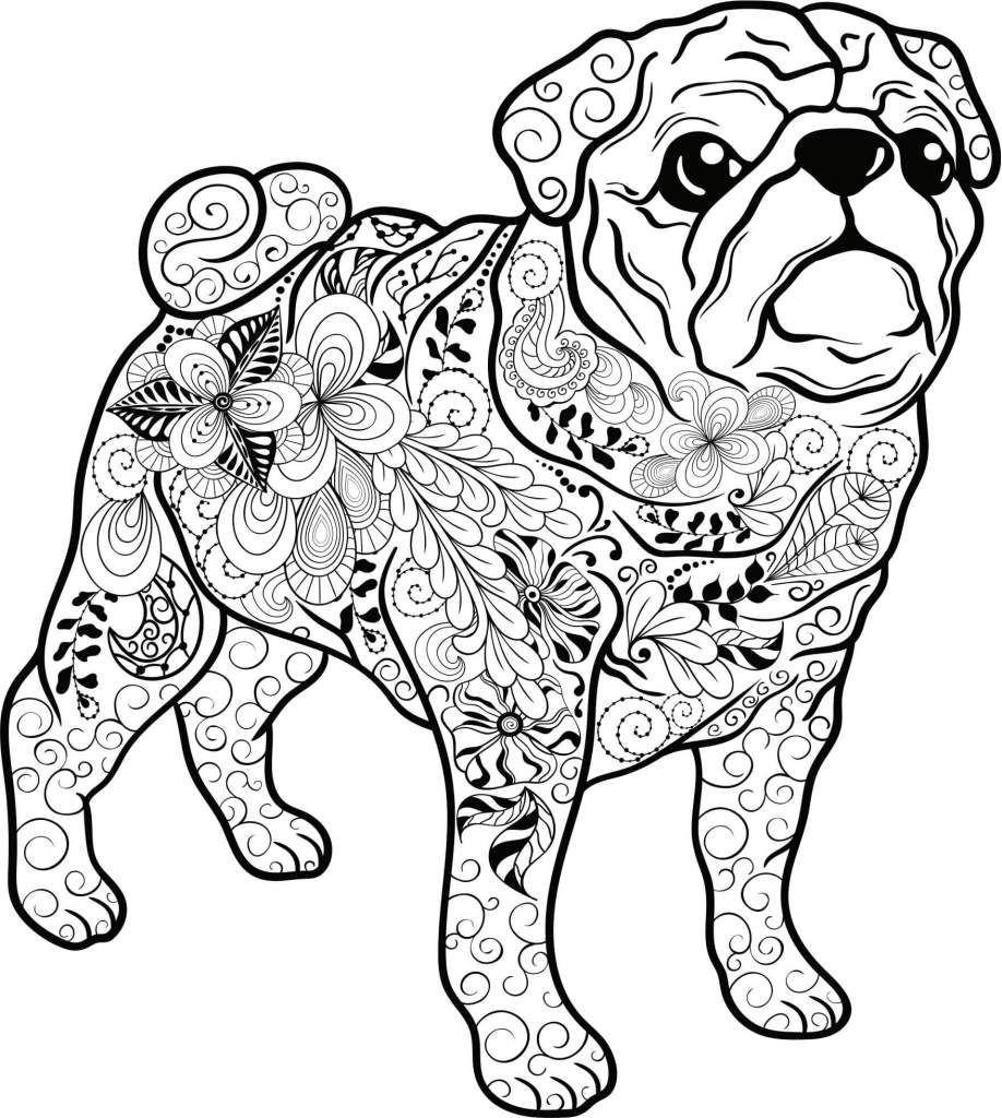 Mops Zum Ausmalen Genial Kostenloses Ausmalbild Hund Mops Die Gratis Mandala Malvorlage Fotos