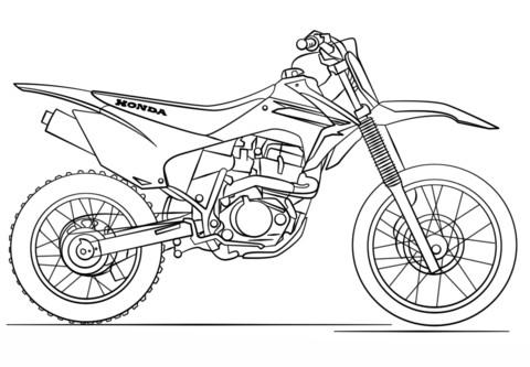 Motorrad Zum Ausmalen Einzigartig Motorrad Ausmalbilder Honda Motocross Stock