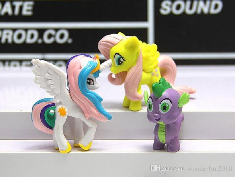My Little Pony Alte Figuren Neu Großhandel 12 Teile Los Mein Kleines Pony Action Figuren Cartoon Bild