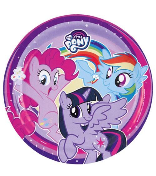 "My Little Pony Alte Figuren Neu Pappteller ""my Little Pony Magie"" 8 Stück Bild"