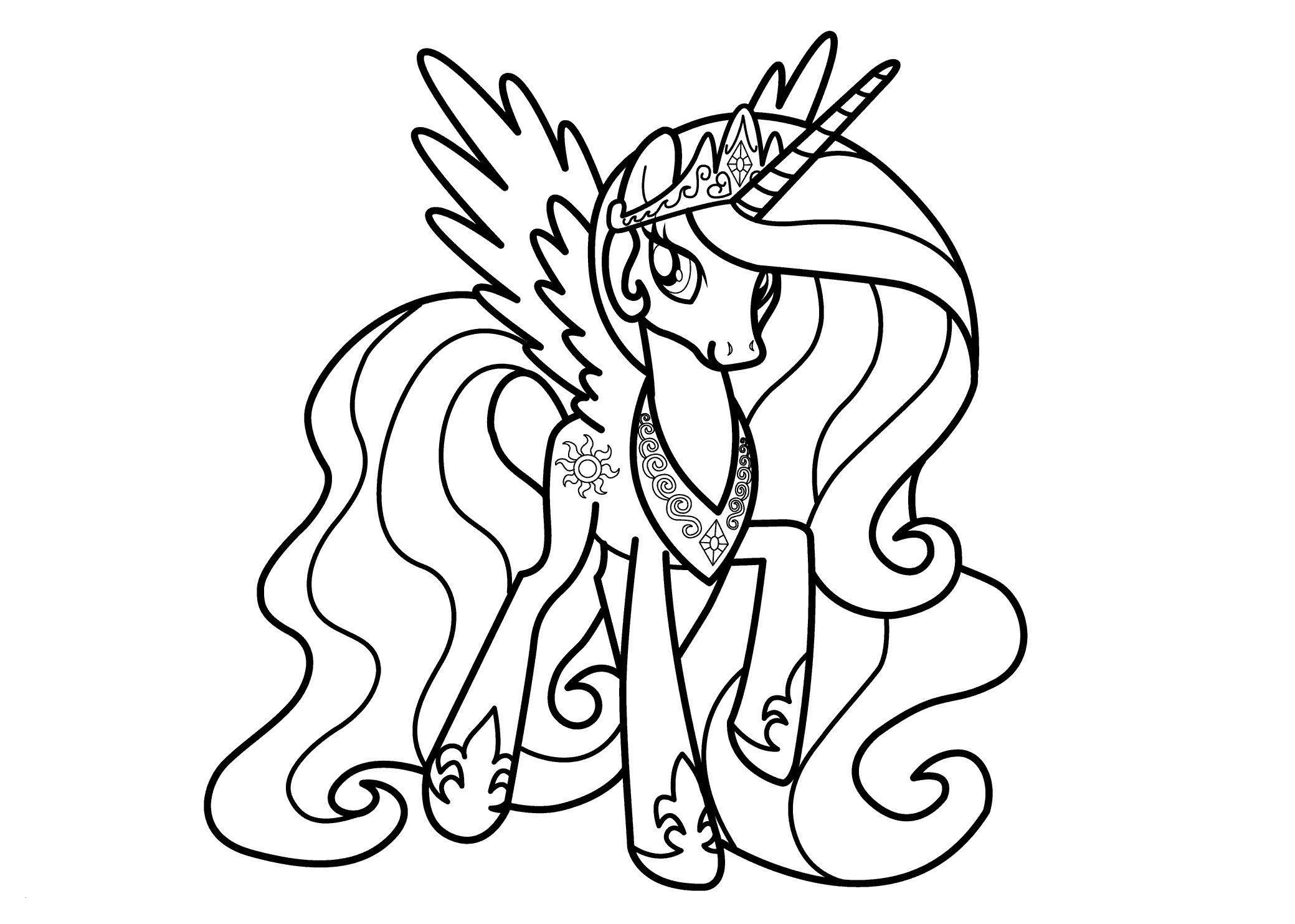 My Little Pony Bilder Zum Ausmalen Inspirierend Princess Luna Coloring Pages Printable Princess Celestia Coloring Stock