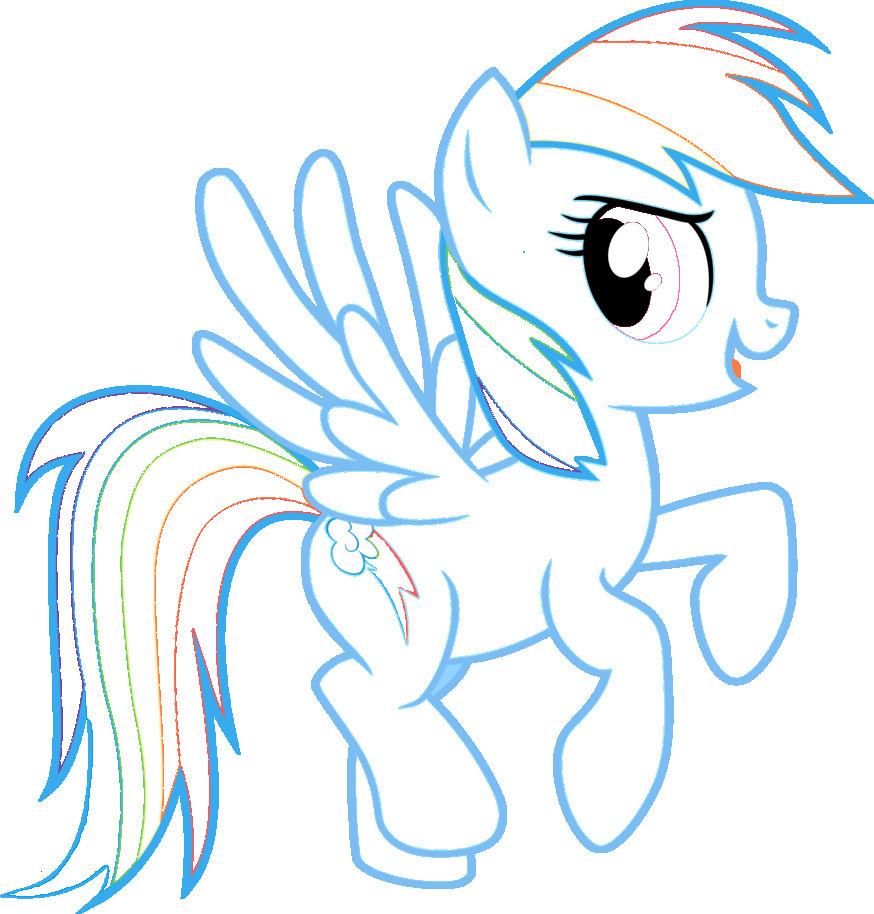 My Little Pony Rainbow Dash Ausmalbilder Genial Rainbow Dash My Little Pony Coloring Pages Einzigartig Rainbow Dash Fotografieren