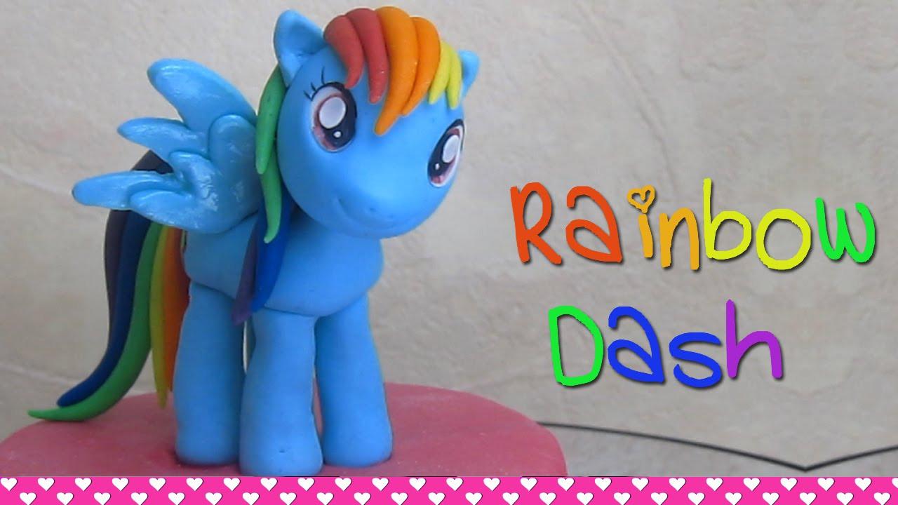 My Little Pony Videos Deutsch Genial How to Make Rainbow Dash My Little Pony Cake topper Figurine Out Of Bild