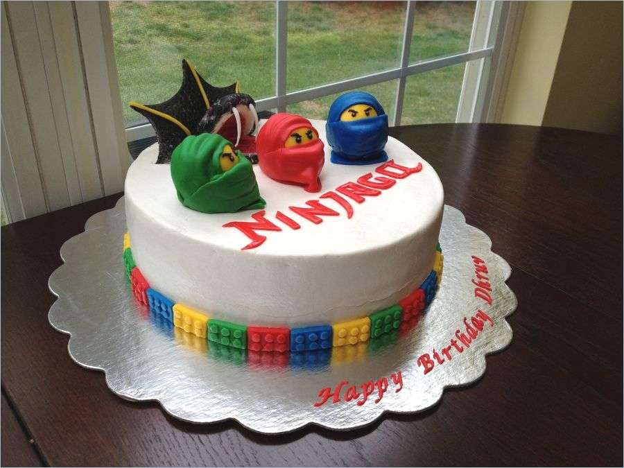 Nexo Knights Schilder Liste Genial Nexo Knights Kuchen Ninjago Cake — Childrens Birthday Cakes Matthew Stock