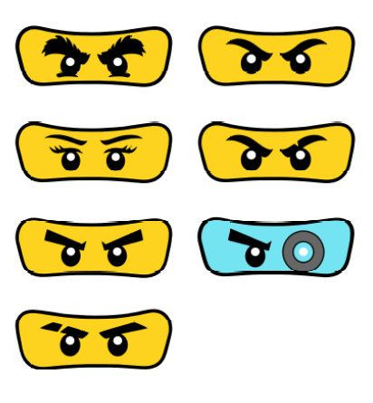Ninjago Augen Malvorlage Neu Pack Of 7 Eyes Lego Ninjago by Partyummy On Etsy Sammlung