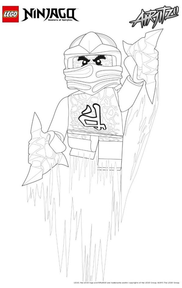 Ninjago Lloyd Ausmalbild Neu Kids N Fun Das Bild