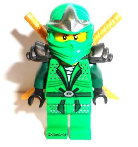 Ninjago Lloyd Bilder Einzigartig Lego Ninjago Lloyd Zx Green Ninja Minifigure with 2 Golden Swords Bild