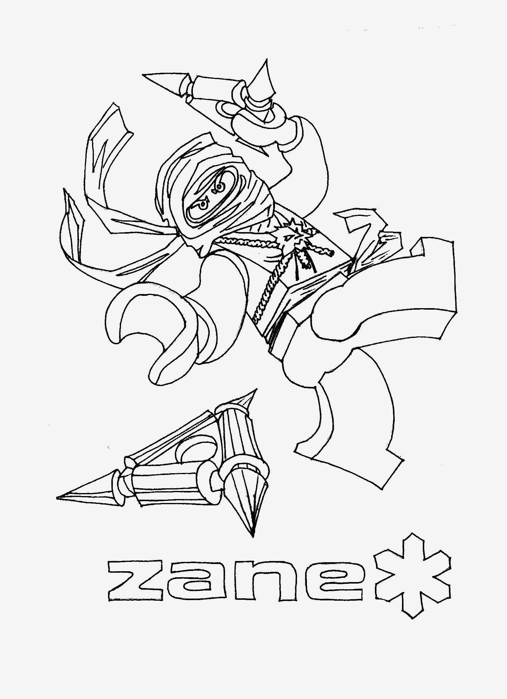 Ninjago Zane Ausmalbilder Frisch Ninjago Ausmalbilder Zum Ausdrucken Beispielbilder Färben Coloring Bild