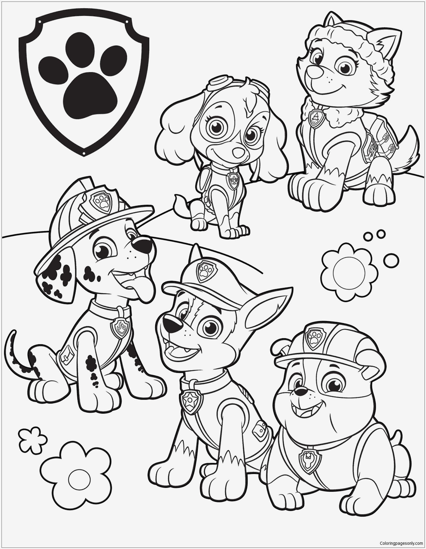Paw Patrol Ausmalbild Genial Inspirational Free Paw Patrol Coloring Pages Coloring Pages Das Bild