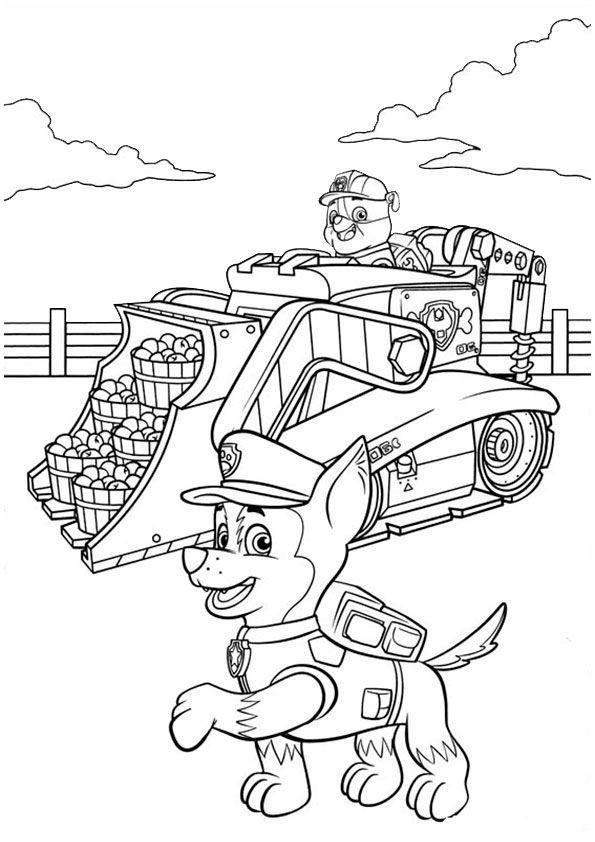 Paw Patrol Ausmalbild Inspirierend Paw Patrol Ausmalbilder Traktor 479 Malvorlage Paw Patrol Färbung Sammlung