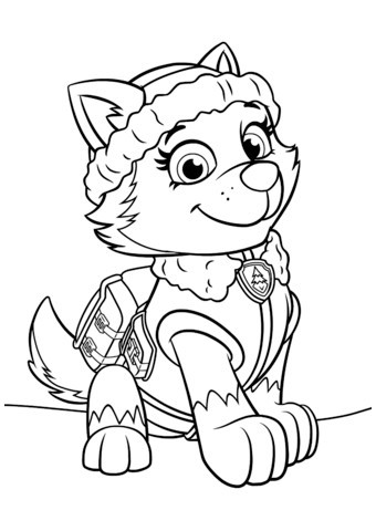 Paw Patrol Ausmalbilder Sky Neu Paw Patrol Everest Coloring Pages 01 Coloring Pages Paw Patrol Bilder