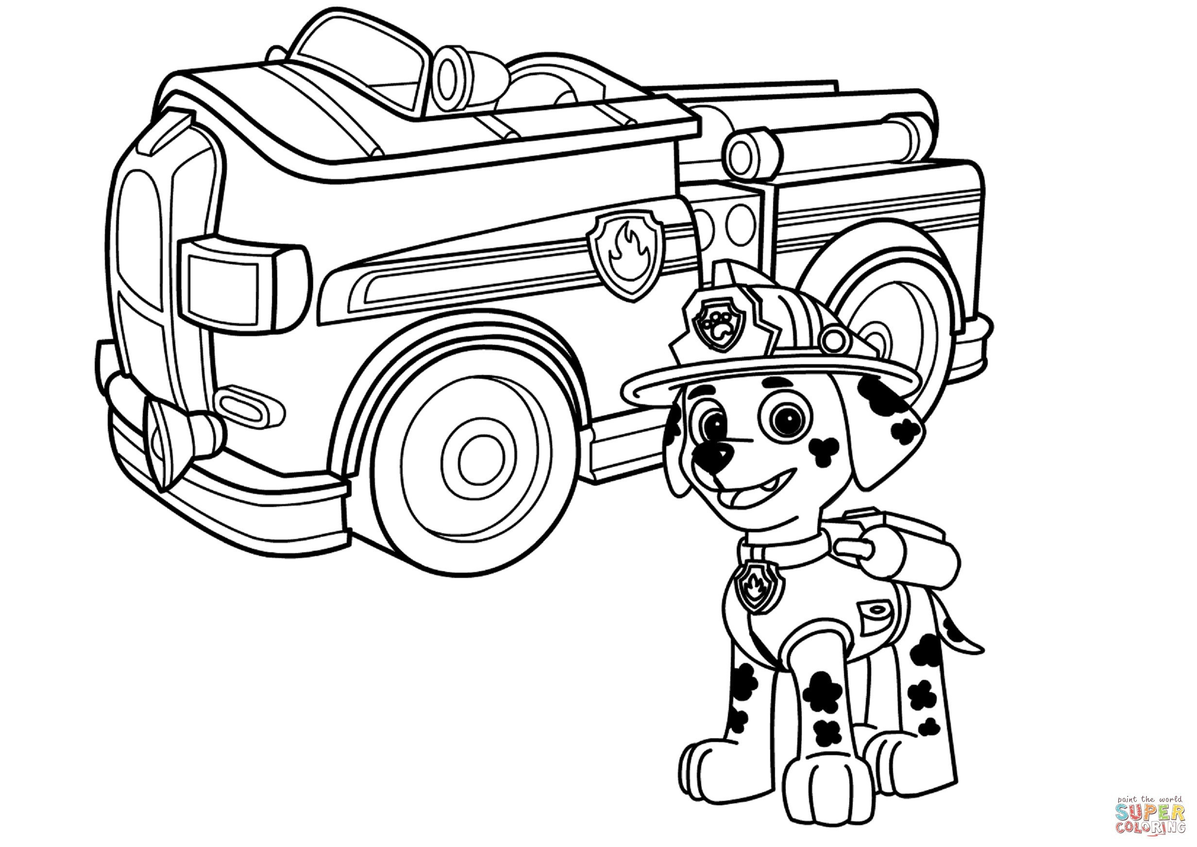 Paw Patrol Ausmalbilder Tracker Neu Inspirational Marshall Paw Patrol Coloring Page Coloring Pages Galerie