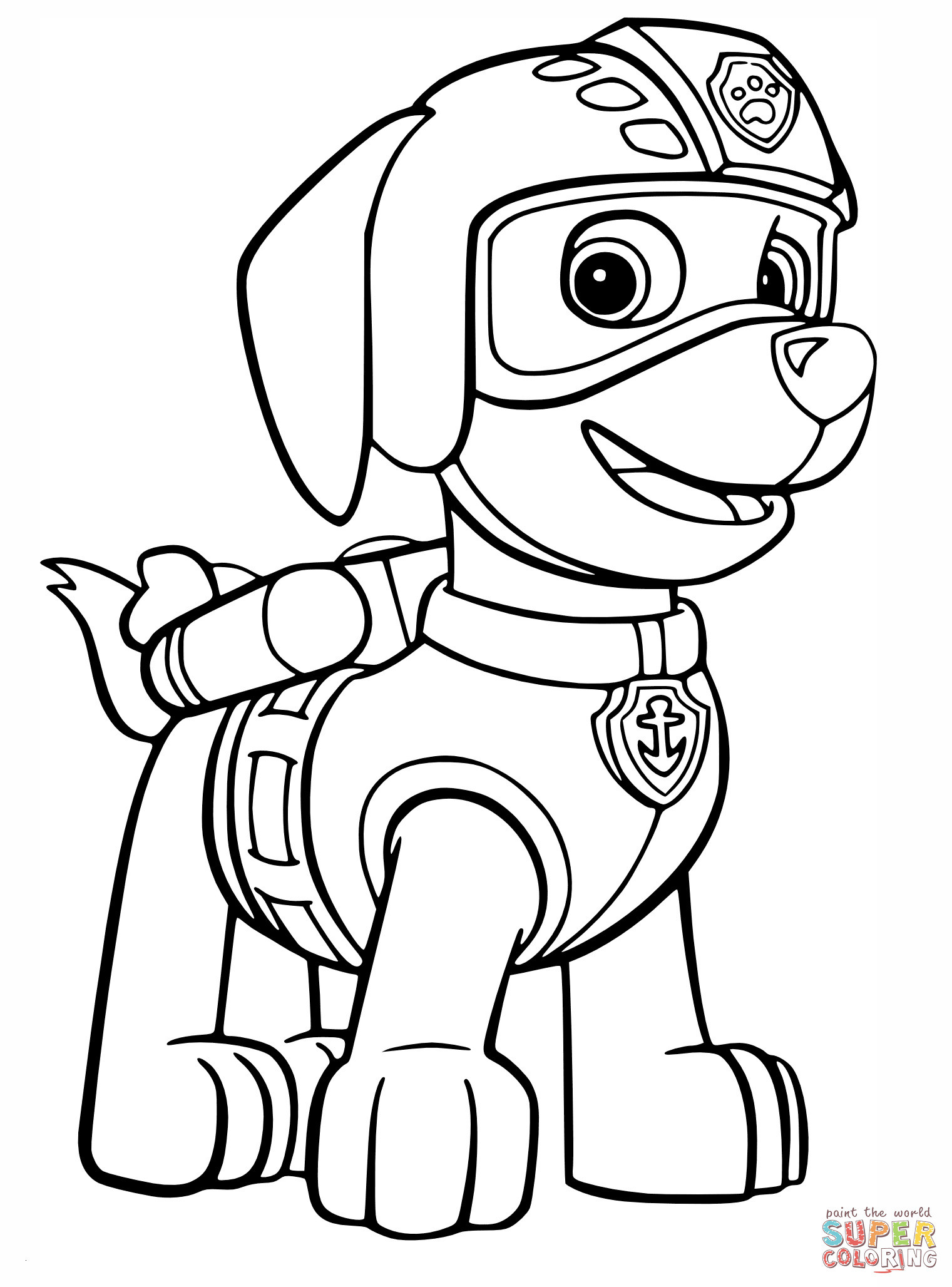 Paw Patrol Ausmalen Das Beste Von Paw Patrol Zuma Coloring Pages 01 Coloring Pages Pinterest Best Bild