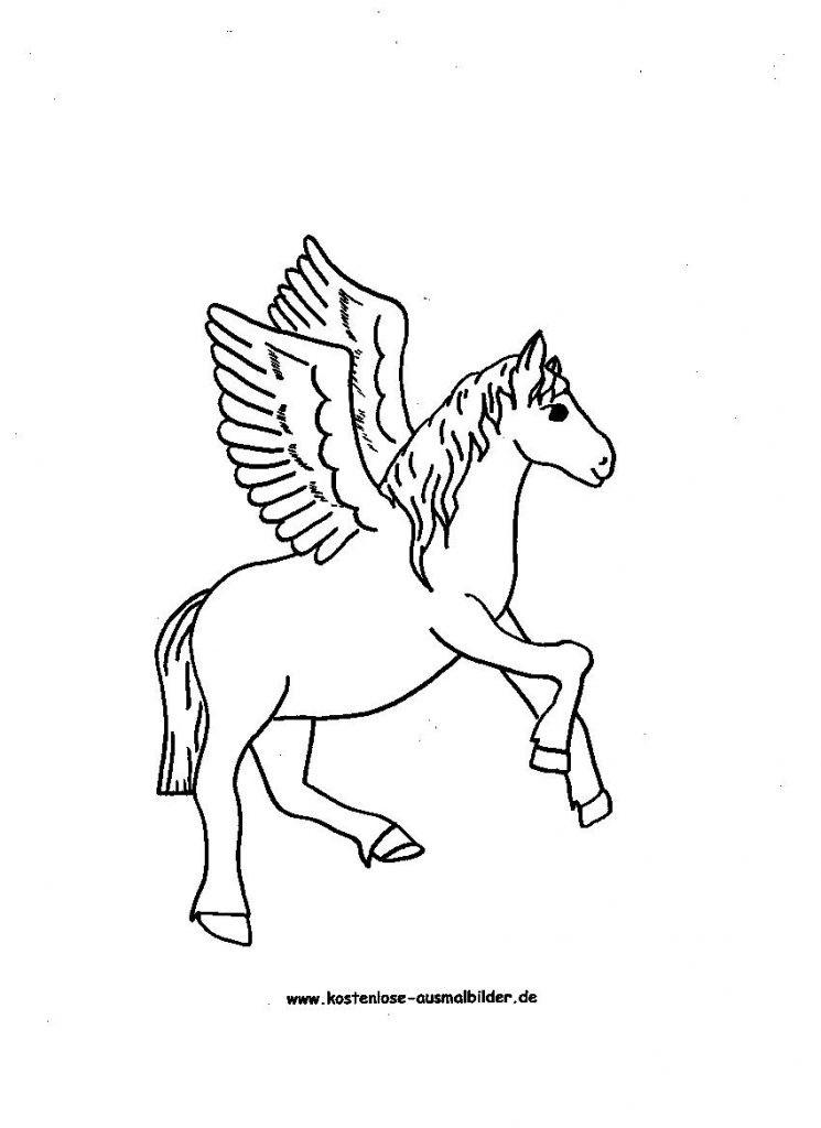 Pegasus Zum Ausmalen Das Beste Von Druckbare Malvorlage Ausmalbilder Kostenlos Pferde Beste Das Bild