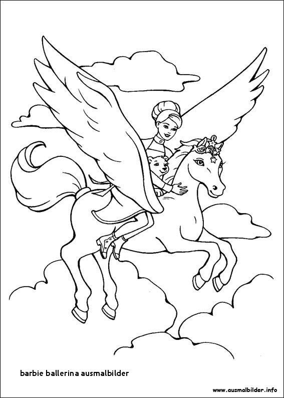 Pegasus Zum Ausmalen Genial 27 Barbie Ballerina Ausmalbilder Colorprint Bild