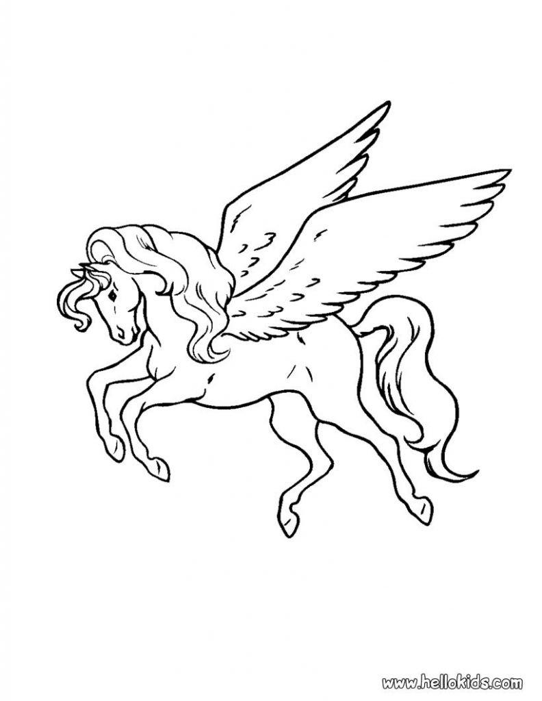 Pegasus Zum Ausmalen Inspirierend Janbleil Gruener Pegasus Ausmalbild Malvorlage Phantasie Bild