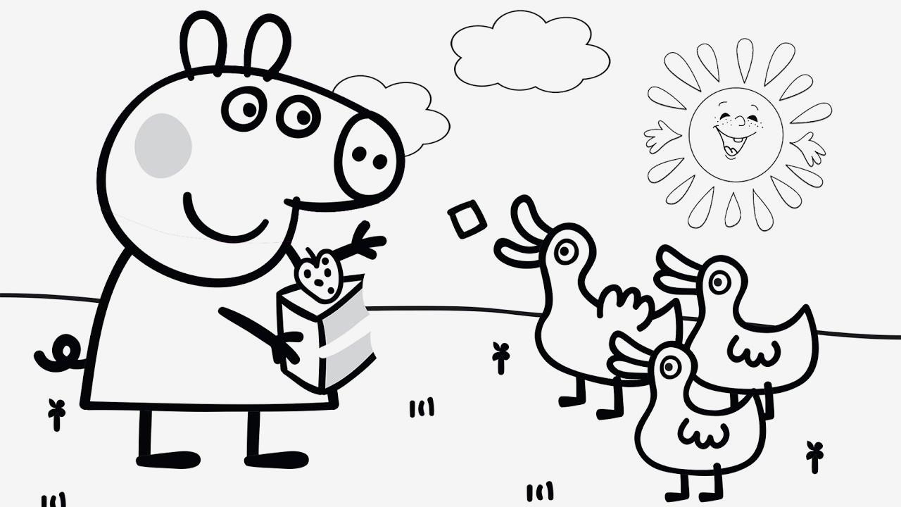 Peppa Pig Ausmalbilder Frisch Malvorlage Peppa Wutz Verschiedene Bilder Färben Peppa Pig and Other Stock