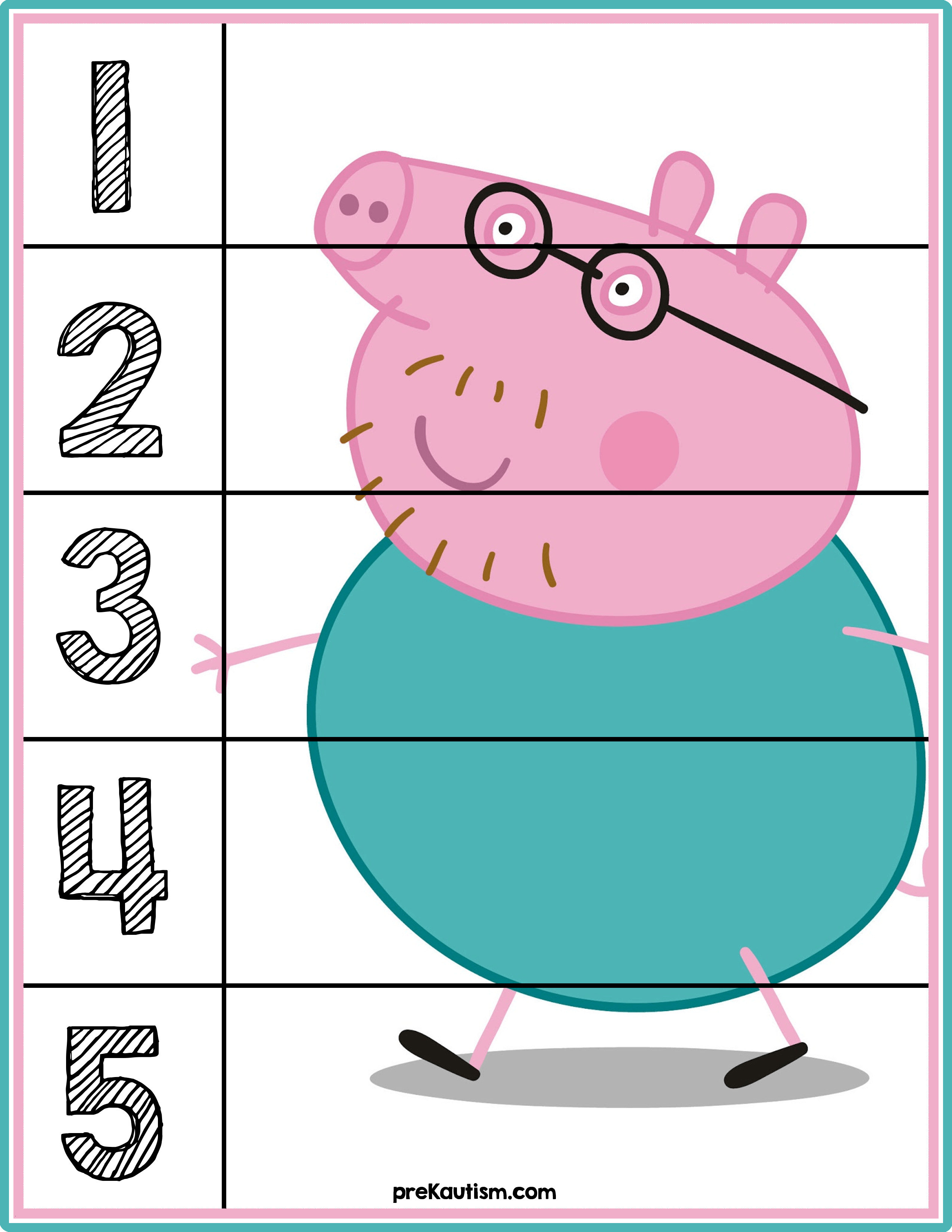 Peppa Pig Ausmalbilder Neu Peppa Pig Number Puzzles S 1 5 Luxus Peppa Pig Ausmalbilder Schön Fotografieren