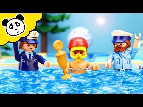 Peppa Wutz Deutsch Schwimmen Frisch ⭕ Playmobil Polizei Polizeiauto Spielzeug Ausgepackt Bilder