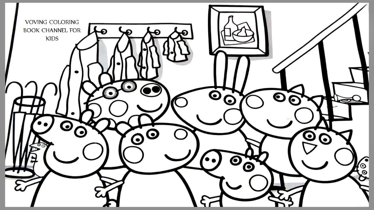 Peppa Wutz Malvorlage Einzigartig Peppa Pig Colorir Peppa Pig Livro Para Colorir Schön Ausmalbilder Bild