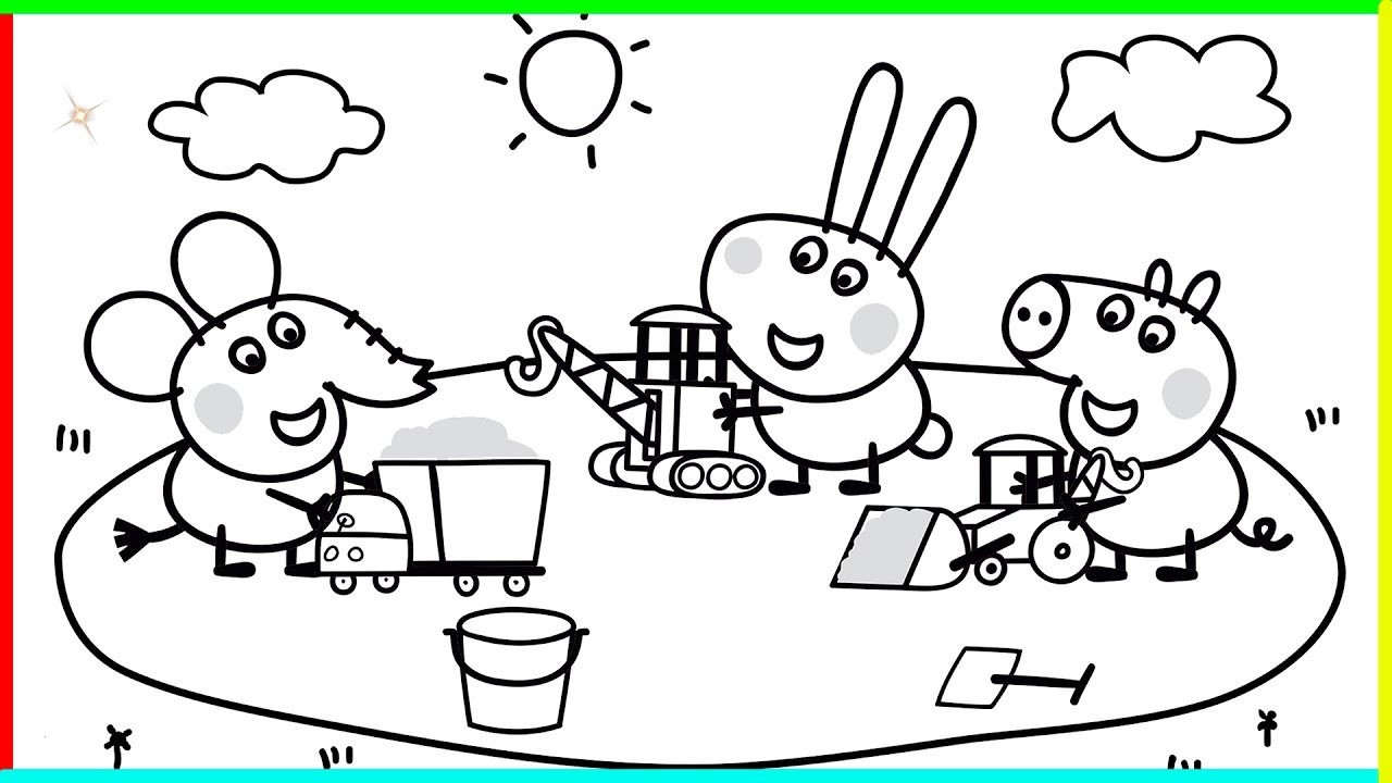 Peppa Wutz Malvorlage Neu Peppa Pig Coloring Pages for Kids ¢– Peppa Pig Coloring Games Schön Fotos