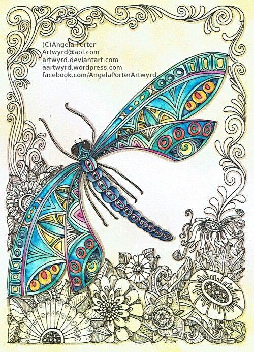 Pinterest Bilder Malen Einzigartig Alleen Het Kleurgebruik Mooi Zentangle Pinterest Fotografieren