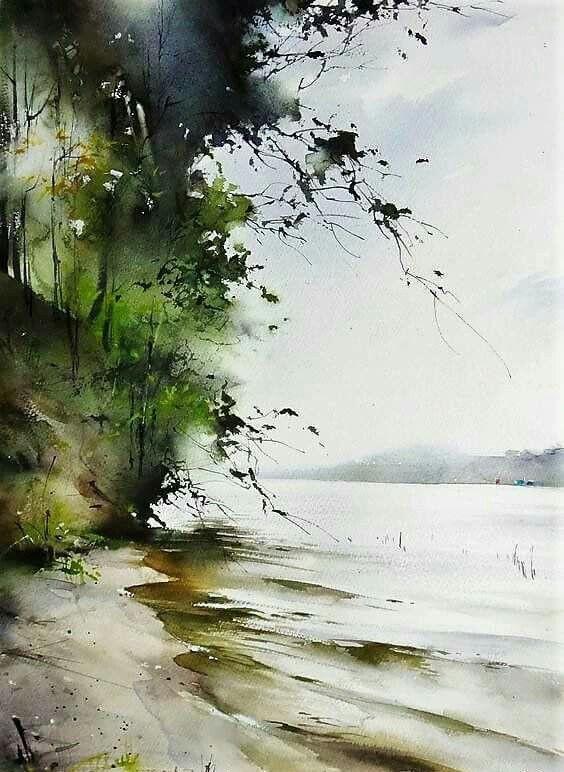 Pinterest Bilder Malen Neu Landscapewatercolor Painting Pinterest Bild