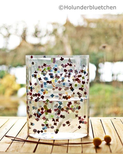 Pinterest Fasching Basteln Genial Konfetti Laminieren Folie Um Ein Glas Legen Basteln Bilder