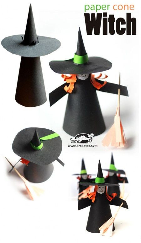 Pinterest Fasching Basteln Genial Paper Cone Witch Krokotak Technique Pinterest Bilder