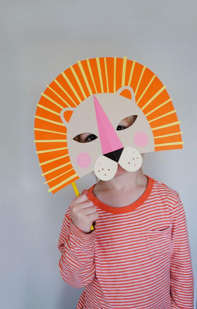 Pinterest Fasching Basteln Inspirierend Diy Mascara De Leon Con Cartulina for Kids Pinterest Galerie
