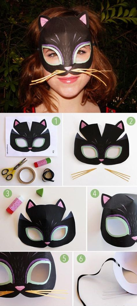 Pinterest Fasching Basteln Inspirierend Instant Make Printable Animal Masks Download Mask Templates now Das Bild