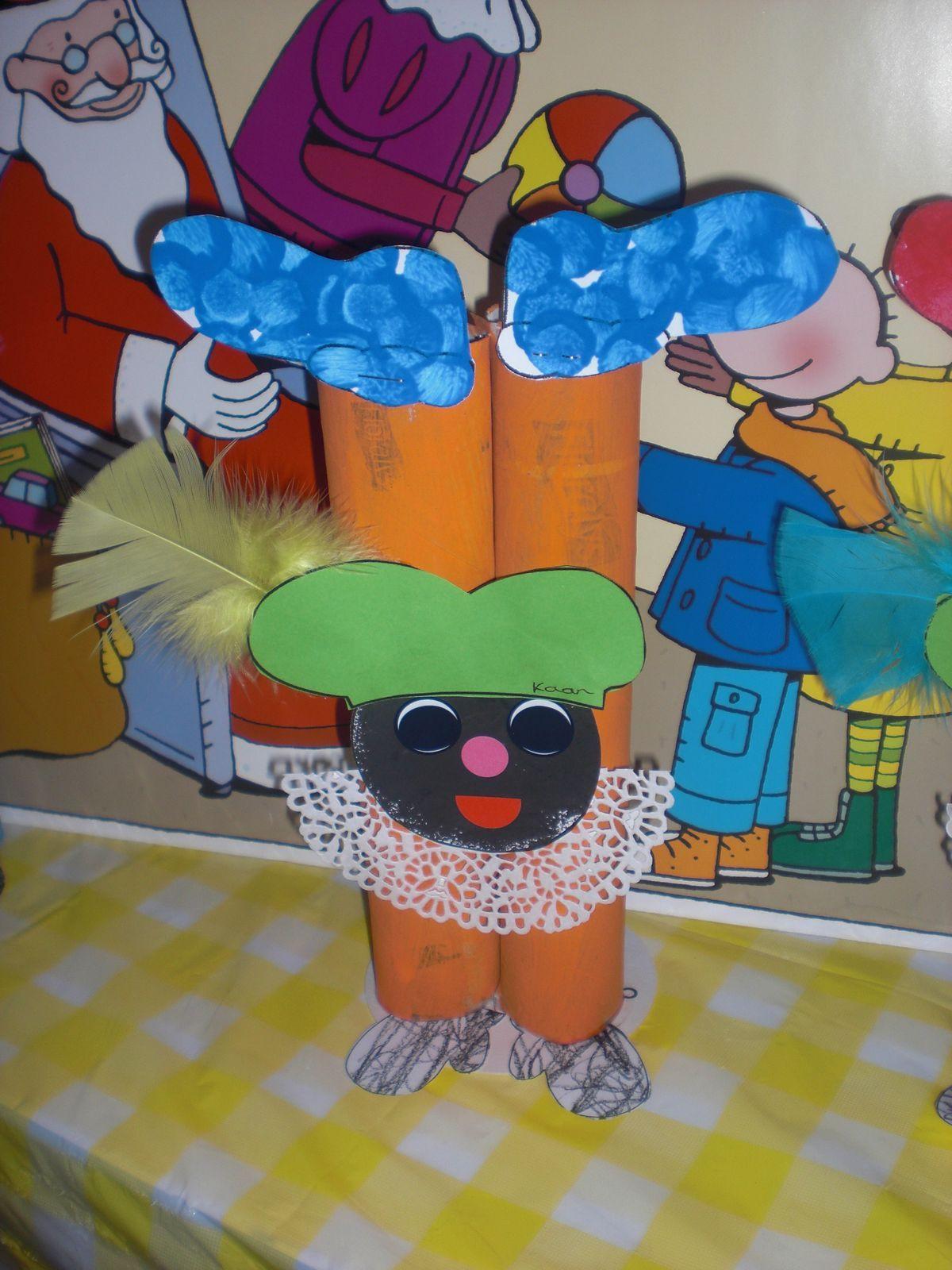 Pinterest Fasching Basteln Neu Wc Rollen Pietje Sinterklaas Pinterest Das Bild