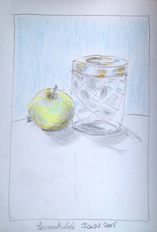 Pinterest Zeichnungen Bleistift Frisch Stillleben Mit Apfel Bleistift Und Aquarellstifte Sunnhild Sammlung