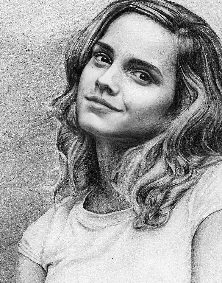 Pinterest Zeichnungen Bleistift Neu Emma Watson Aka Hermione Granger Artwork by Pencilplane Fotos