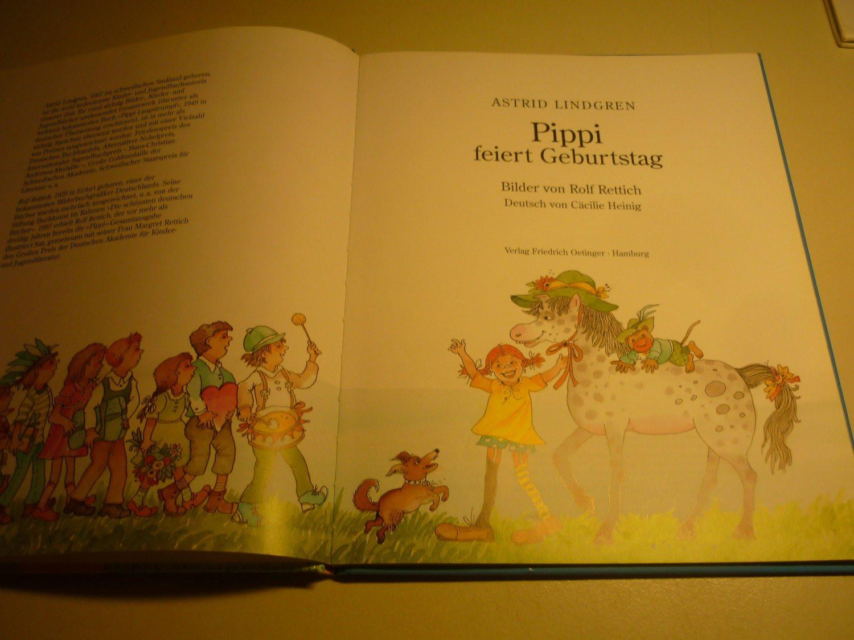 """Pippi Langstrumpf Akkorde Frisch Pippi Feiert Geburtstag"""" Lindgren astrid Rettich – Buch Das Bild"""