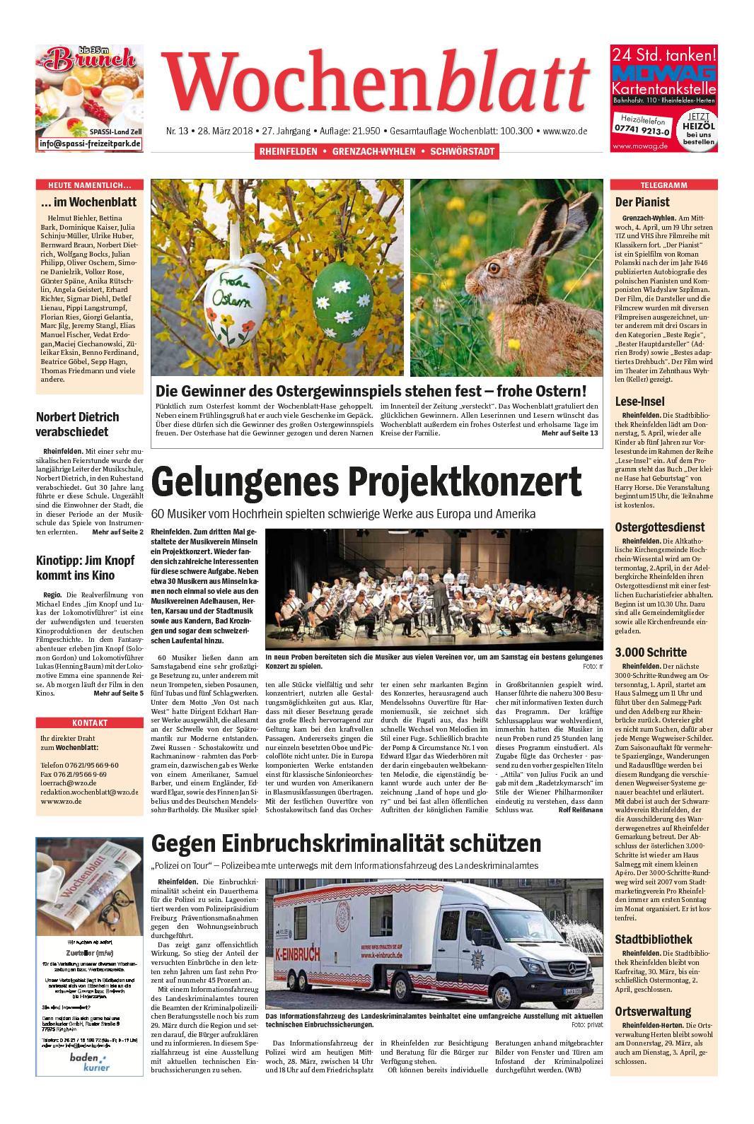 Pippi Langstrumpf Akkorde Neu Calaméo Wochenblatt Rheinfelden Das Bild